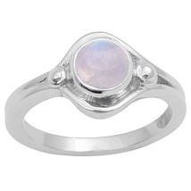 Newest Rainbow Moonstone Solid Gemstone 925 Sterling Silver Ring Sz P SH... - $14.79