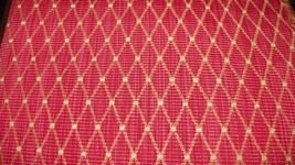 Persimmon Gold Diamond Print Damask Upholstery Fabric Remnant  F673 - $39.95