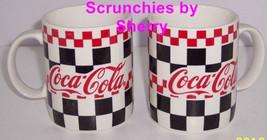Coke Coca Cola Coffee Mug Checkered Coffee MugsVintage 1996 Lot of 2 - $49.95