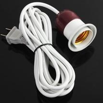 US plug White AC 250V 10A On off Switch E27 Lamp Holder Socket light 2.5... - €8,14 EUR