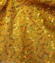 Gold Sequins Spandex Hair Scrunchie Scrunchies by Sherry Swimwear Dancewear - $8.99