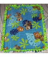 "Disney Finding Nemo Fleece Throw Blanket Lime Green Blue 56"" x 68"" Adult... - $129.95"
