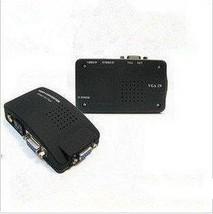 F03081 VT-520 AV to VGA TV TO PC Signal TV S-Video Converter Adapter Swi... - €20,24 EUR
