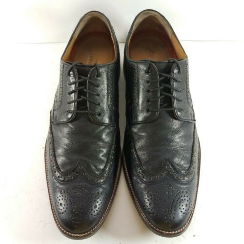 Cole Haan Grand OS Men's Size 10.5 M Oxfords Black Leather Wingtip Brogue C12227