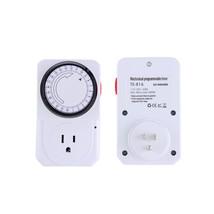 US Plug 24 Hour Mechanical Electrical Plug Program Timer Power Switch En... - €11,96 EUR