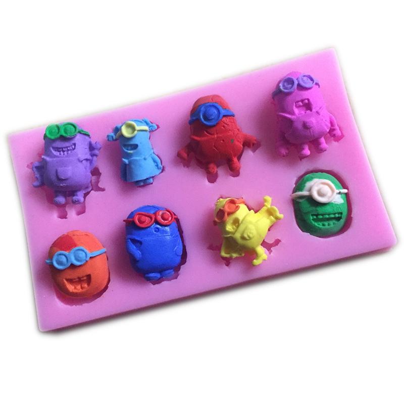 Minions Despicable Me Silicone Mold Fondant Cake Decorating Tools ...