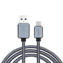 Gray 3M USB-C USB 3.1 Type C Braided Cord Male Data Charge Charging Cabl... - $13.00