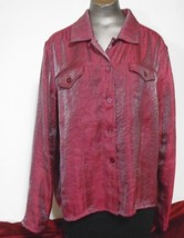 Croft & Barrow Pink Size L Rayon Blend Blouse  Full  length  Sleeves - $11.72
