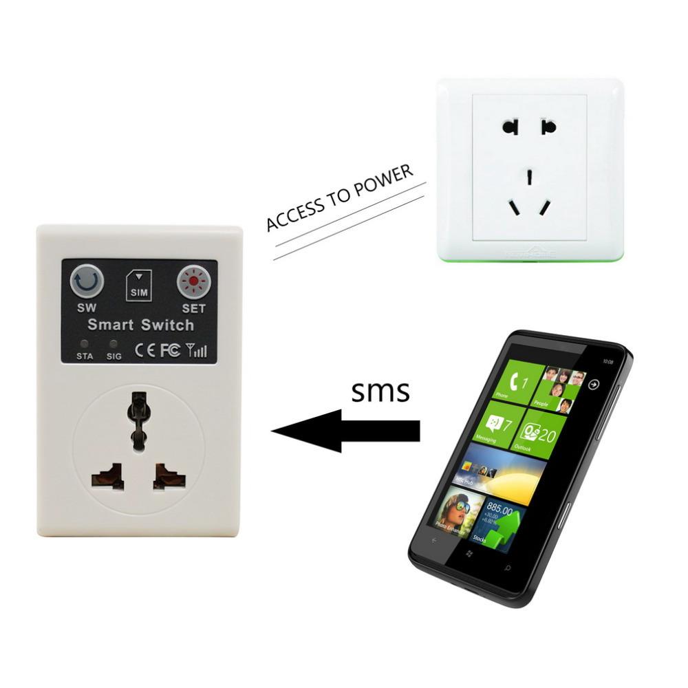 Ale 220v eu plug cellphone phone pda gsm rc remote control socket power smart switch interruptor