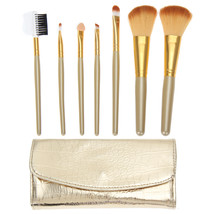 BSEL Home Makeup Tools Accessories 7pcs Professional Soft Gold Cosmetic ... - $12.71