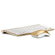 Authentic Motospeed G9800 Gold Color Laser Printing Wireless Keyboard An... - £39.80 GBP
