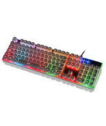 Del Motospeed K11 Waterproof backlight computer keyboard USB wired profe... - £39.81 GBP