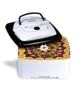 700 Watt Square SnackMaster Food and Jerky Dehydrator thermostat Fruit Jerky Veg - $94.85