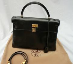 Hermes Box Calf Leather Kelly 32 Sellier Handbag - $5,300.00