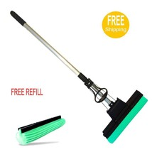 PVA Mop Double Roller Sponge Foam Rubber Mop and Extra Replacement Head - $28.01