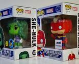FUNKO POP She Hulk GiTD & Captain Marvel Masked Pop! MARVEL Exclusives 2016