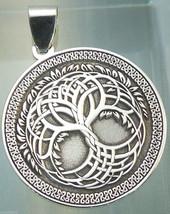 Pendant Celtic Tree of Life Amulet Jewelry 925 sterling silver (p620) Bi... - $37.62