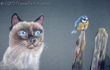 Custom Cat Portrait. Pastel drawing, Portrait from photos, Portrait on request