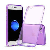 For iPhone 7 Purple Case Thin TPU Rubber Transparent Soft Silicone Shock... - $6.96