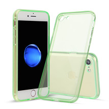For iPhone 7 Green Case Thin Rubber TPU Transparent Soft Silicone Shockp... - $6.96