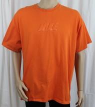 NIKE Raised Letters Orange XL T-Shirt - $9.99