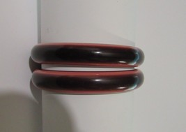 Vintage Bangles Thermoset Laminated Cranberry, Rose and Wine Color - $57.00