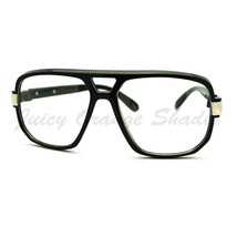 Oversized Clear Lens Glasses Flat Top Square Celebrity Eyeglasses - $7.95