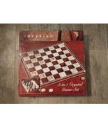 Imperial Crystal 2 in 1 Crystal Chess / Checkers Game Set (MIOB) - $54.99