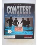 "GLOBAL CONQUEST Strategy Game - Microplay 1992 - IBM PC 5¼""HD Big Box - $17.81"