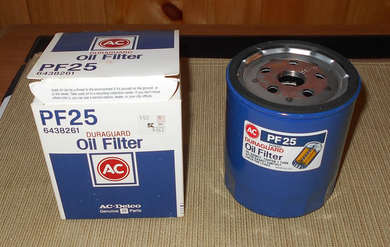 ac duraguard oil filter pf25 6438261 oil filters. Black Bedroom Furniture Sets. Home Design Ideas