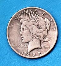 1922 Peace Silver Dollar Moderate Wear 90% Silver - $50.00