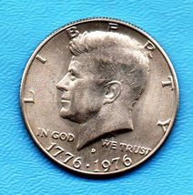 Bi-Cennetial  Kennedy Halfdollar Near Uncirculated High End Grade - Denver Mint - $5.99