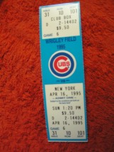 MLB 1995 Chicago Cubs Ticket Stub Vs. New York Mets 4/16/95 - $3.49