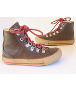 CONVERSE Chuck Taylor Brown Leather High Top Boys-Girls-Junior 12 All Star EUC - $23.36