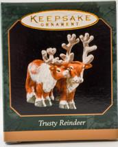 Hallmark  Trusty Reindeer 1999 Noah's Ark   Miniature Keepsake Ornament - $10.19