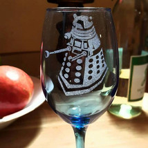 Dr. Who Inspired Wine glass, Dalek - $15.00