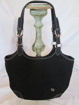 THE SAK Hobo Shoulder Bag ~ Black Heavy Gauge Knit Purse w/ Blue & Green... - $32.88