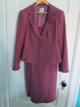 Nanette Lepore Suit ~ HEATHER Rose Tweed, Lavender Lining ~ Sz 6 Dress, ... - $109.94 CAD