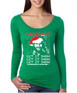 Women's Shirt Pablo Escobar Snow Ugly Xmas Let It Snow Fun - $14.94+