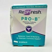 RepHresh Pro-B Probiotic Feminine Supplement, 30 Count 6/2021+ BOX DAMAGE - $15.99