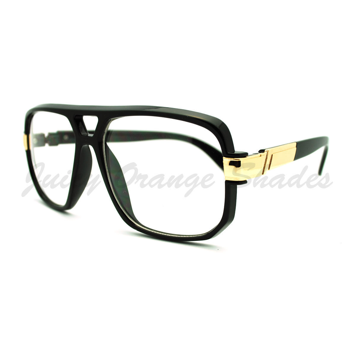 Oversized Clear Lens Glasses Flat Top Square Celebrity Eyeglasses