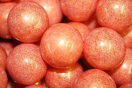 Gumballs Shimmer Orange 25mm Or 1 Inch (285 Count), 5LBS - $28.70