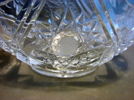 Heavy Crystal Clear Pattern Glass Handled Basket  SMALL - $18.00