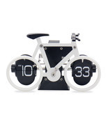 Novelty Bicycle Bike Flip Clock Time Adjustment-Set Clock For Home Desk ... - $39.90