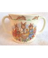 1936 Royal Doulton BUNNYKINS Christening Cup Mug Two Handle Bunnies Rabb... - $12.95