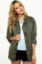 New French army F1 olive field jacket combat coat surplus military retro  - $35.00