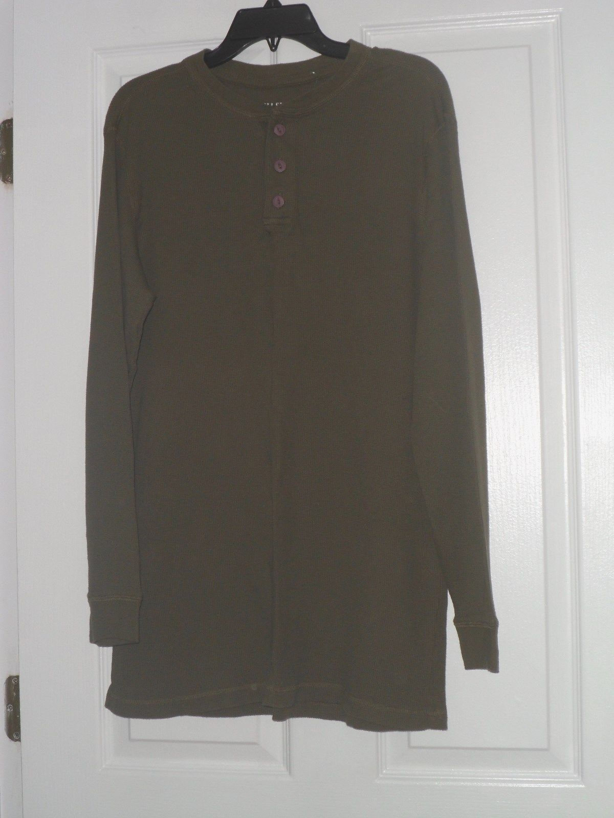HIGH SIERRA MEN'S THERMAL SHIRT SIZE XL OLIVE GREEN LONG SLEEVES NWT - $16.49