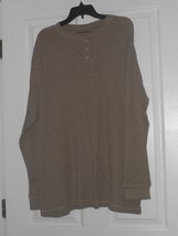High Sierra Men's Thermal Shirt Size L Light Brown Long Sleeves Nwt - $16.49