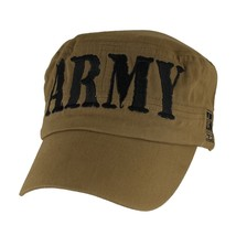 ARMY BLOCK LETTERS COYOTE BROWN EMBROIDERED HAT CAP  - $33.24