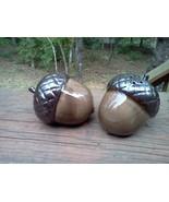New Salt and Pepper Shakers Acorn Ceramic Woodl... - $8.00